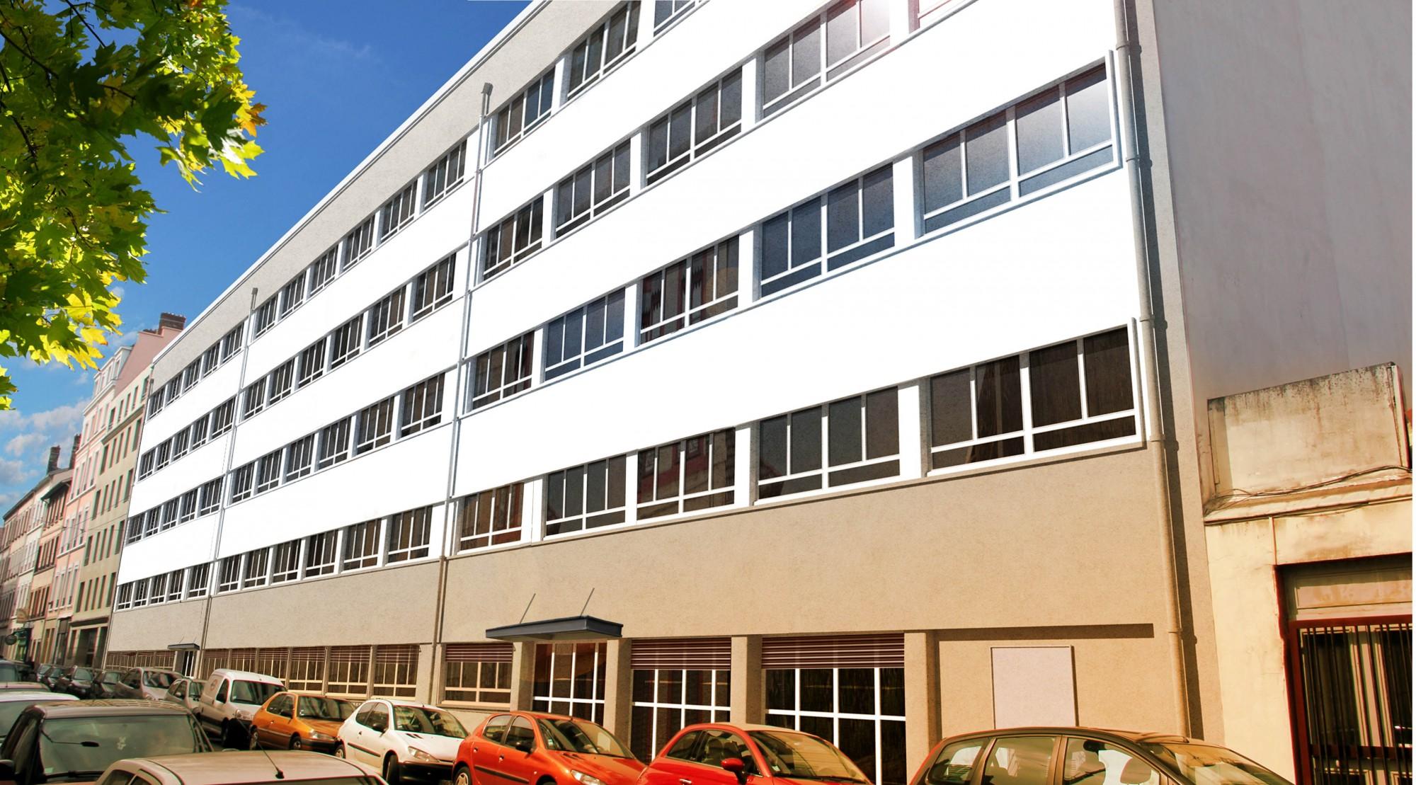 Rénovation immeuble bureau Lyon Villeurbanne