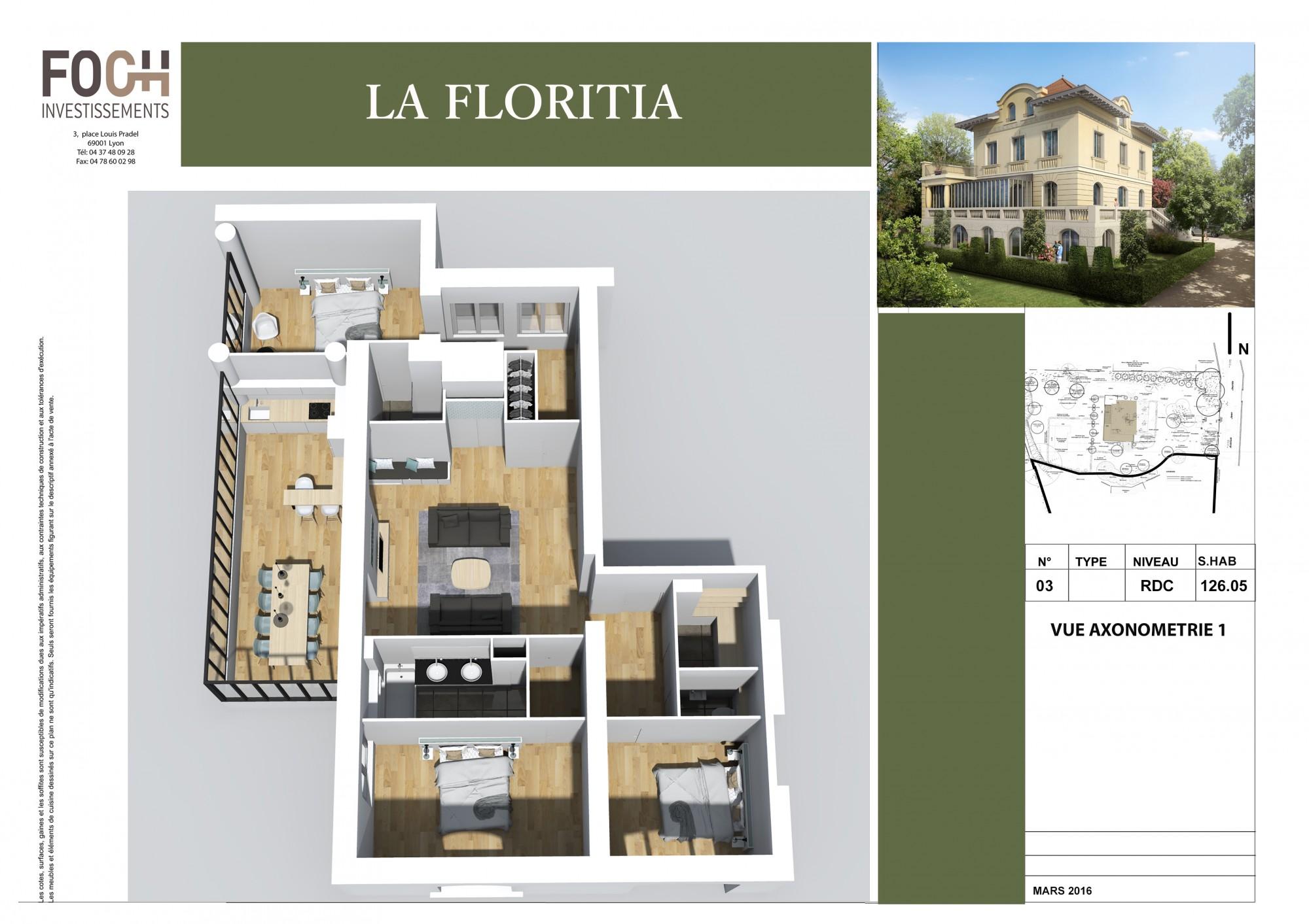 Axo T4 d'exception La Villa Floritia
