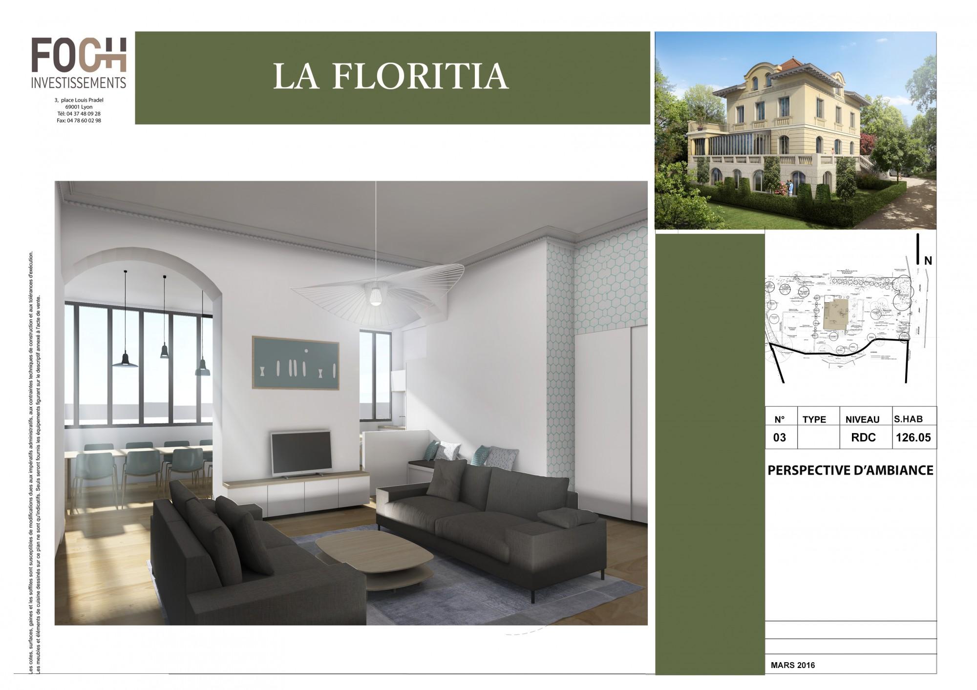 Vue intérieur appartement d'exception Lyon