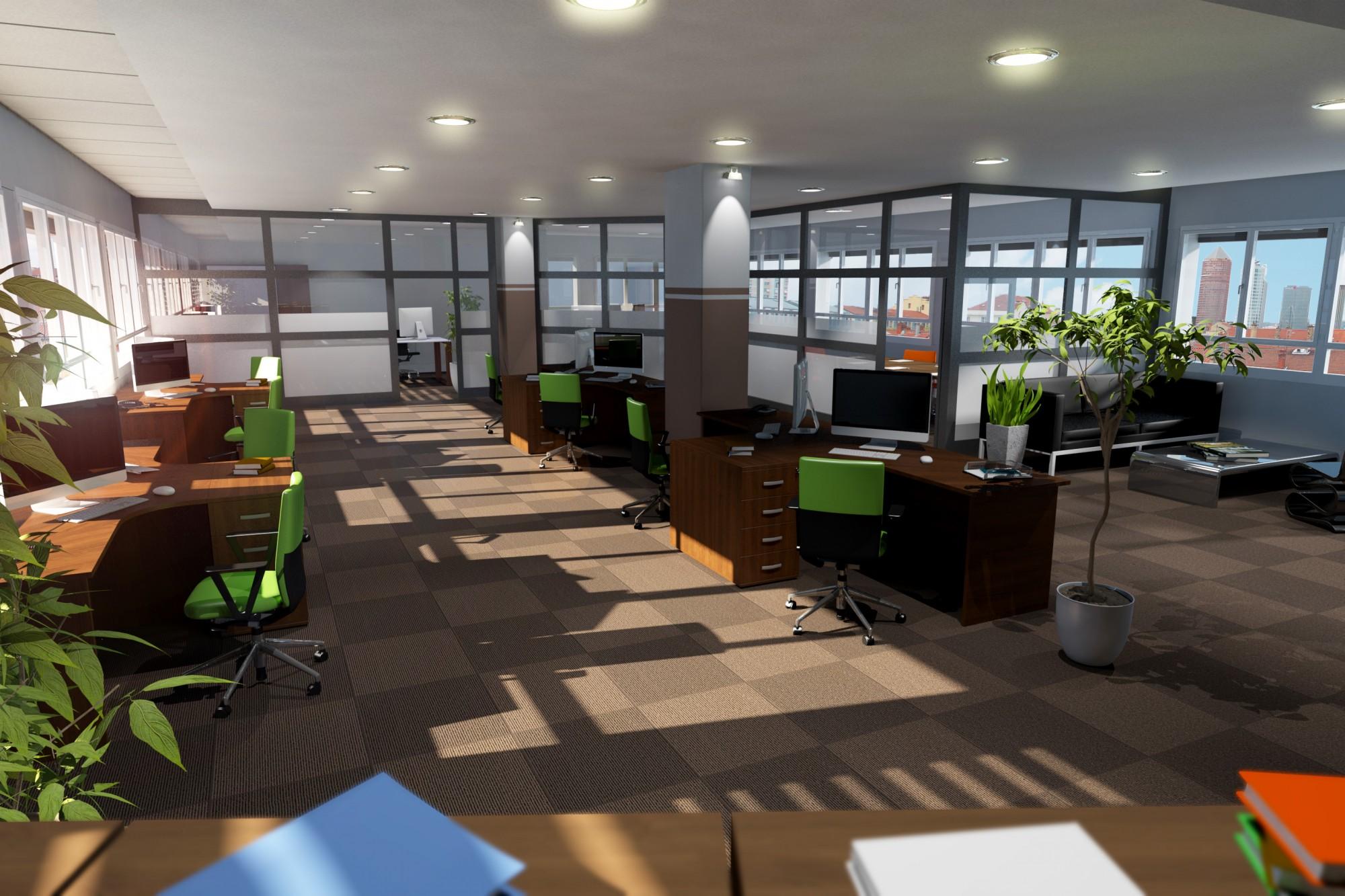 Projet d'aménagement de plateaux de bureaux à Lyon Villeurbanne