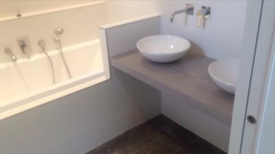 Aménagement baignoire meuble vasque Lyon